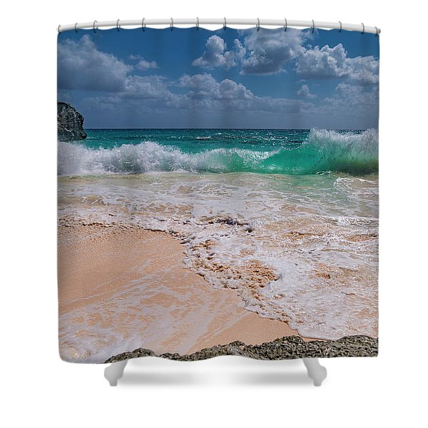 Pink Sand Bermuda Beach Shower Curtain