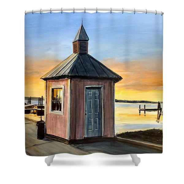 Pink Shed Shower Curtain
