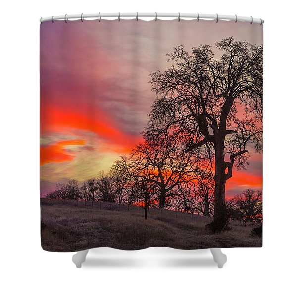Pink Sunrise Shower Curtain