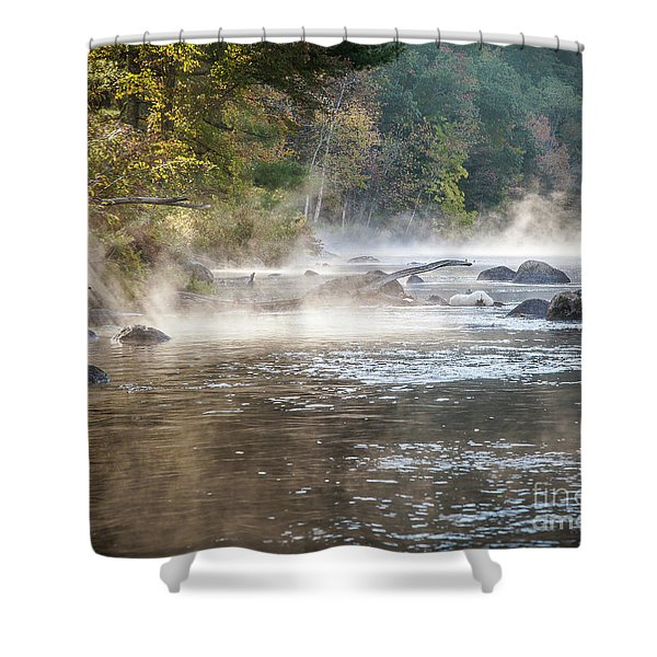 Pipeline Pool  Shower Curtain