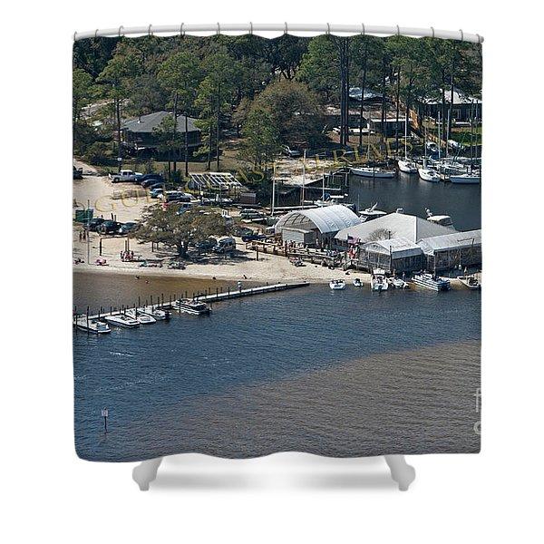 Pirates Cove - Natural Shower Curtain