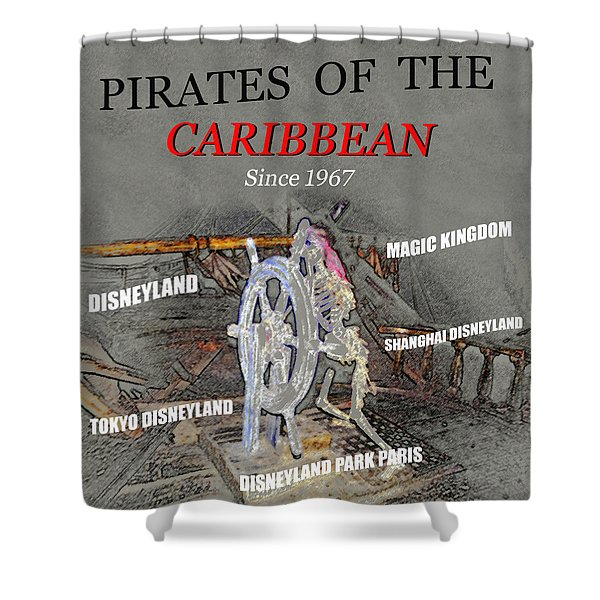 Pirates Of The Caribbean Tribute Art Shower Curtain