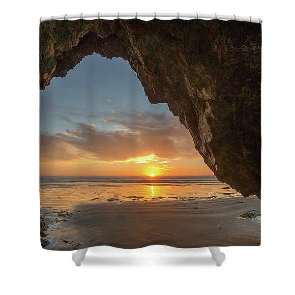 Pismo Caves Sunset Shower Curtain