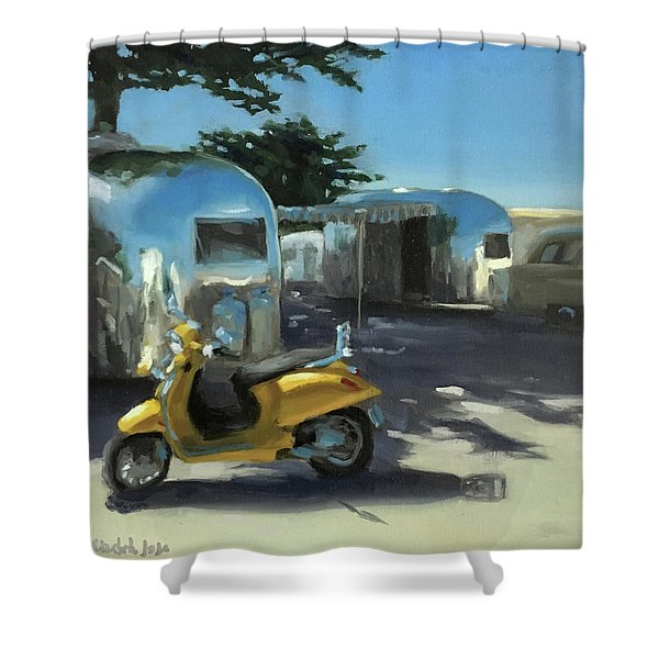 Pismo Vintage Rally Shower Curtain