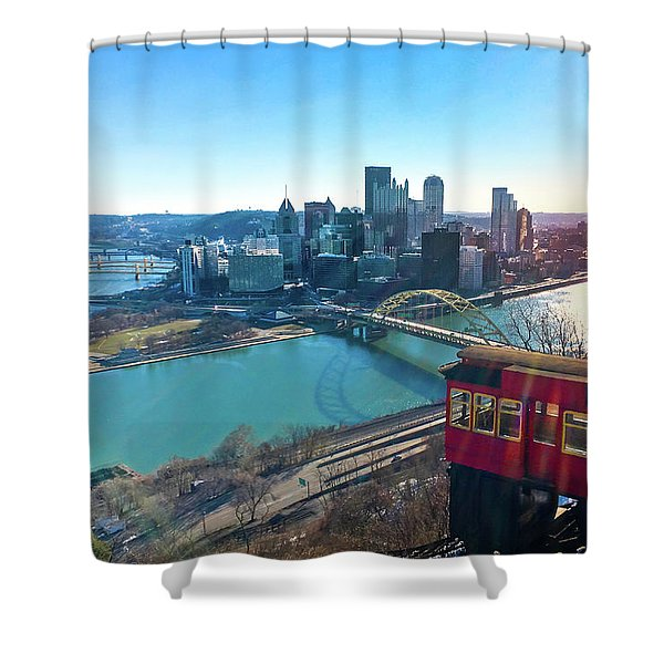 Pittsburgh View Above The Duquesne Incline. Shower Curtain