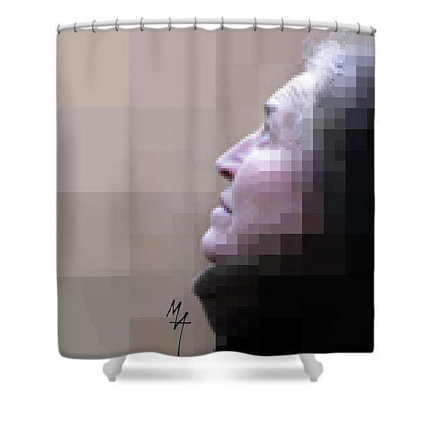 Pixel Portrait Shower Curtain