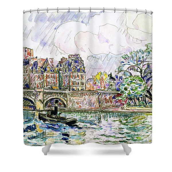 Place Dauphine - Digital Remastered Edition Shower Curtain