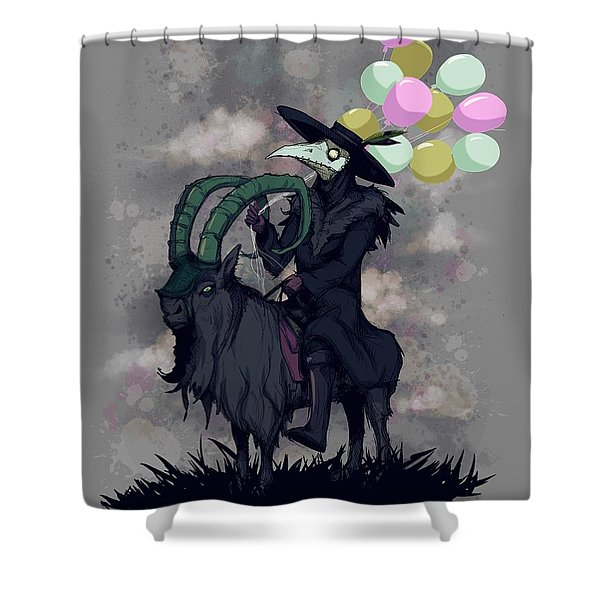 Plague Balloons Shower Curtain
