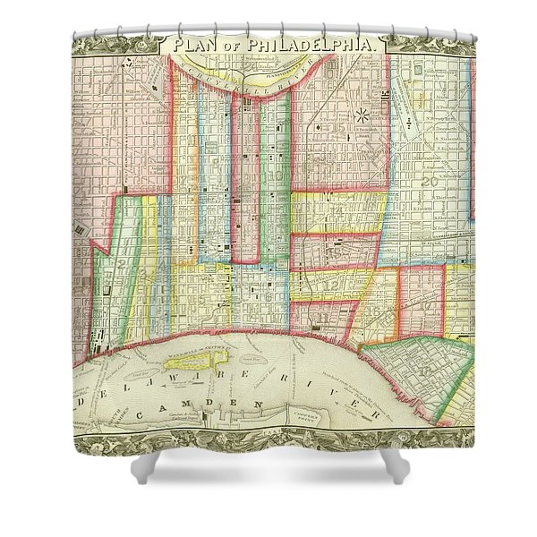 Plan Of Philadelphia, 1860 Shower Curtain