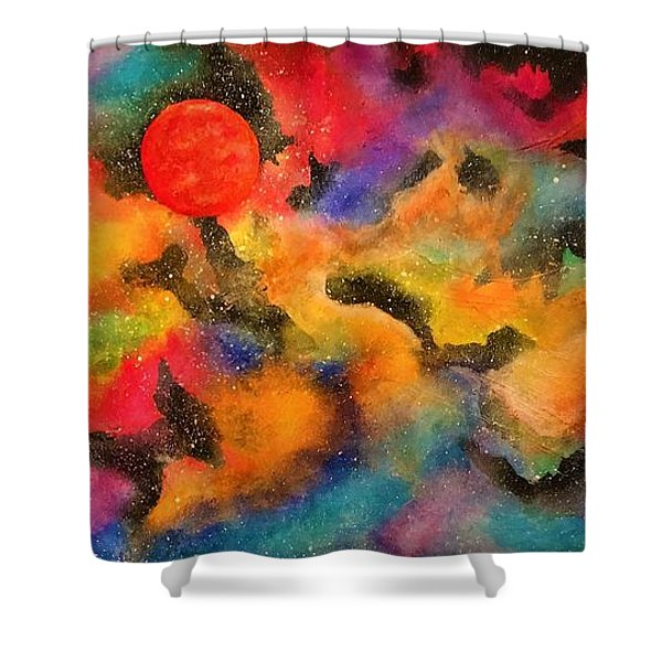 Planet Arcturus Shower Curtain