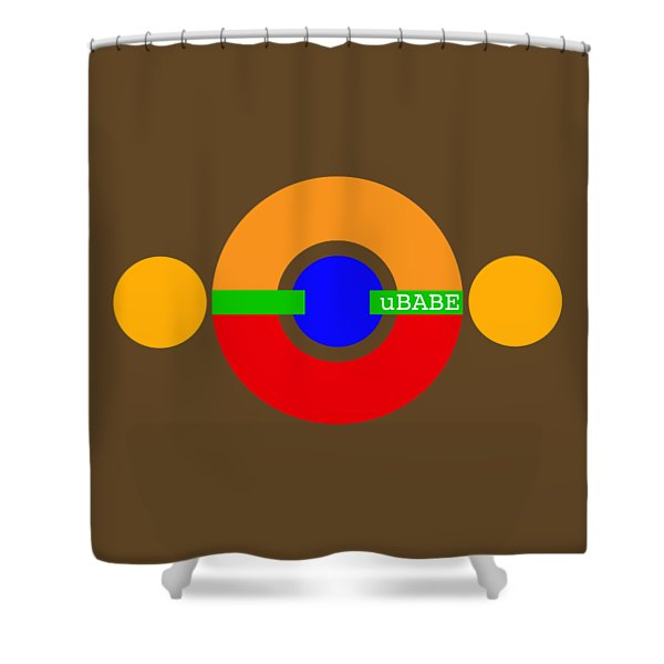 Planet Babe Shower Curtain