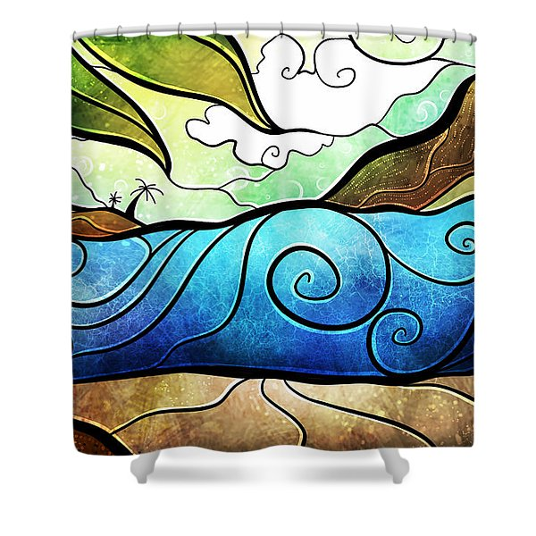 Playa Paraiso Shower Curtain