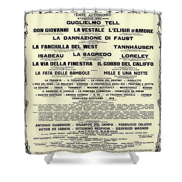 Playbill Poster For For La Scala, 1929-1930 Season Shower Curtain