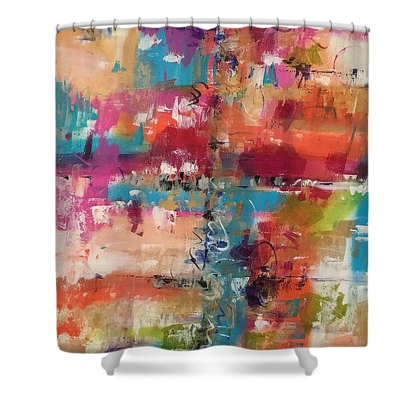 Playful Colors Shower Curtain
