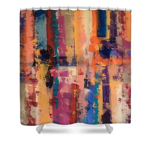 Playful Colors Iv Shower Curtain