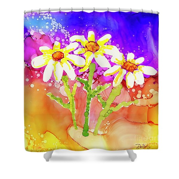 Playful Daisies Shower Curtain