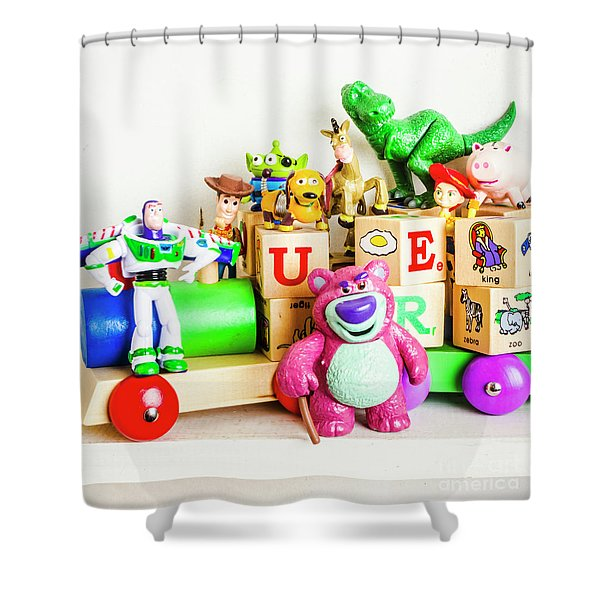 Playtime Story Shower Curtain