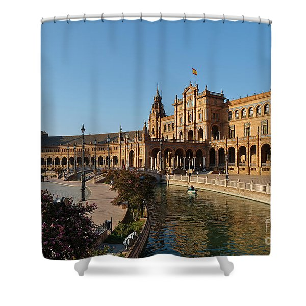 Plaza De Espana Bridge View Shower Curtain
