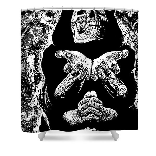 Pleading With The End Shower Curtain