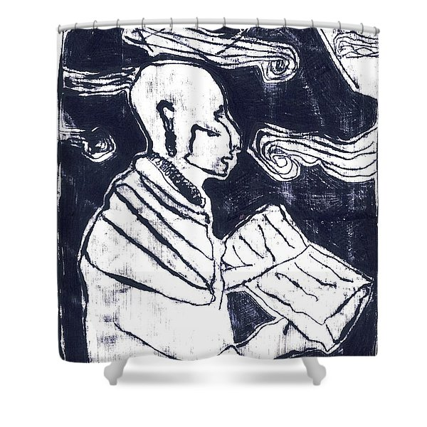 Poet Reading To Wind Clouds Otdv3 13 Shower Curtain