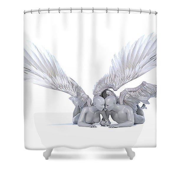Poetic Love Shower Curtain