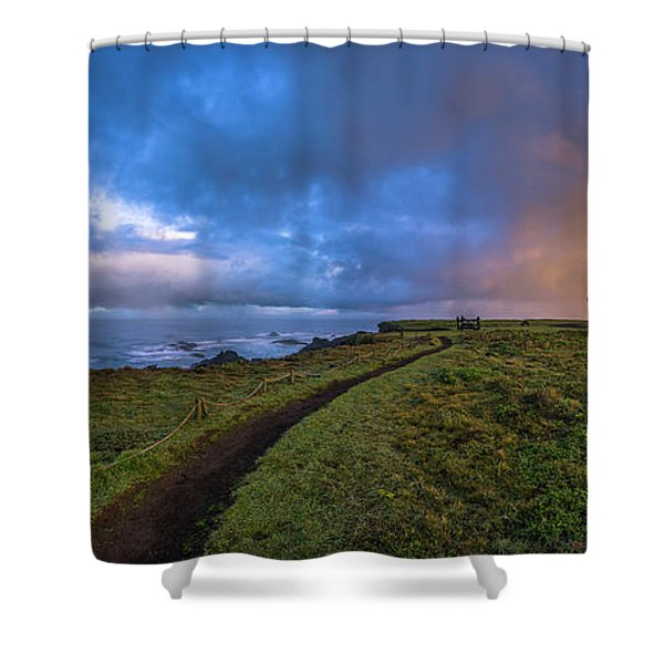 Point Cabrillo Light Station Panorama Shower Curtain