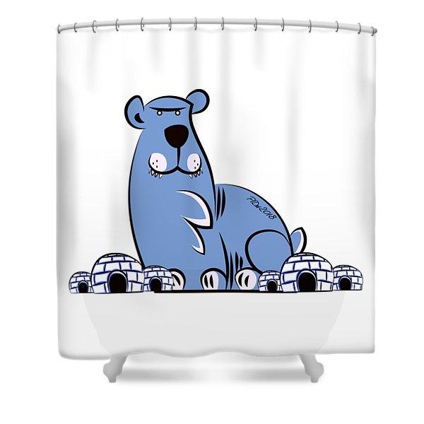 Polar King Shower Curtain