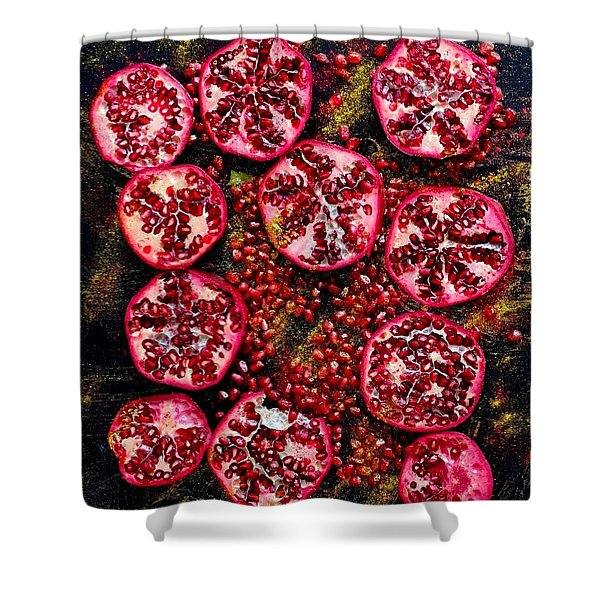 Pomegranate New Year Shower Curtain
