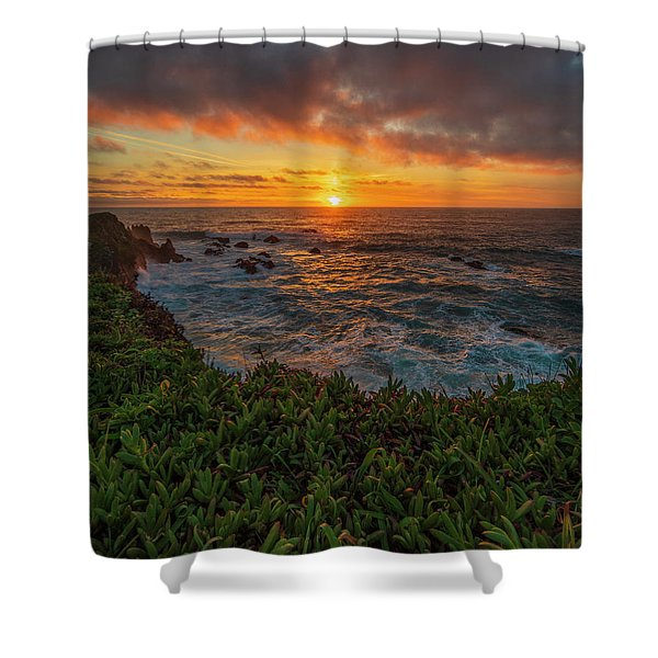 Pomo Bluffs Sunset - 2 Shower Curtain