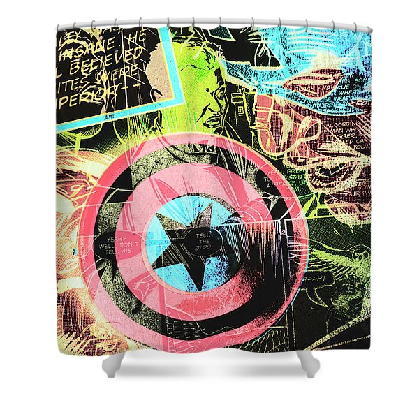 Pop Art Comic Book Shower Curtain