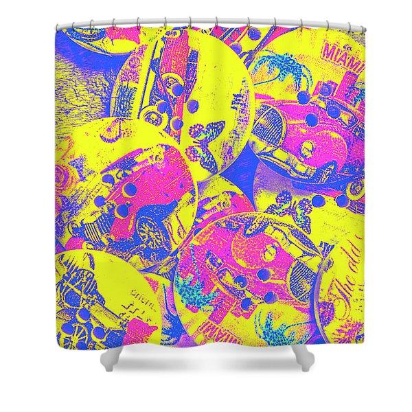 Pop Art Garage  Shower Curtain