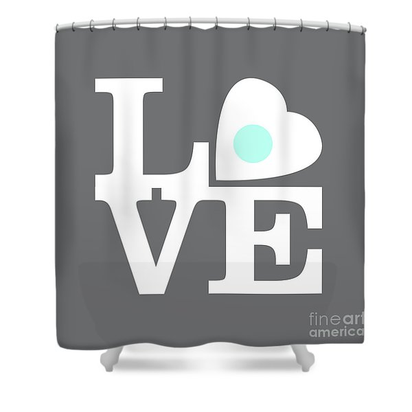 Pop Art Love In Gray Shower Curtain