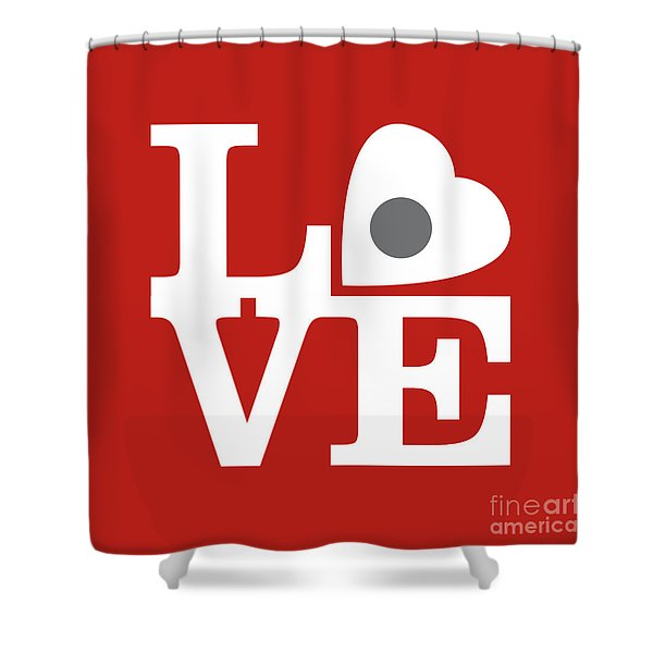 Pop Art Love In Red Shower Curtain