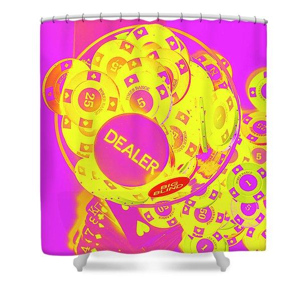 Pop Art Poker Shower Curtain