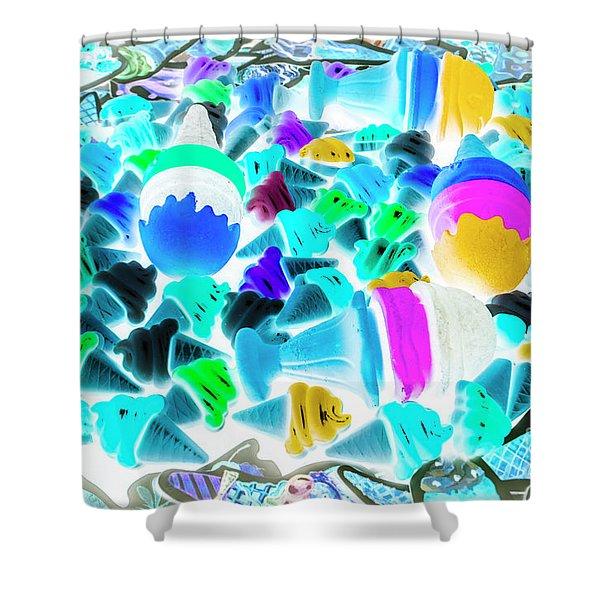 Pop-art-sicles Shower Curtain