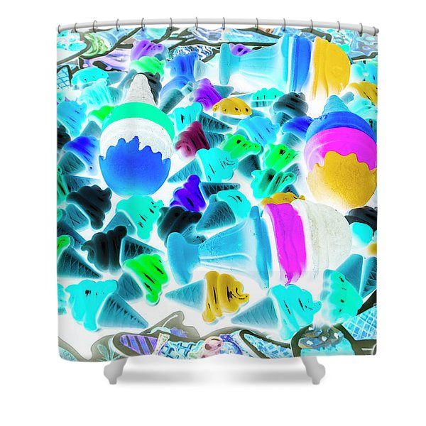 Pop-art-sicles Shower Curtain