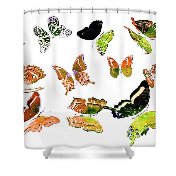 Pop Art Tropics Shower Curtain