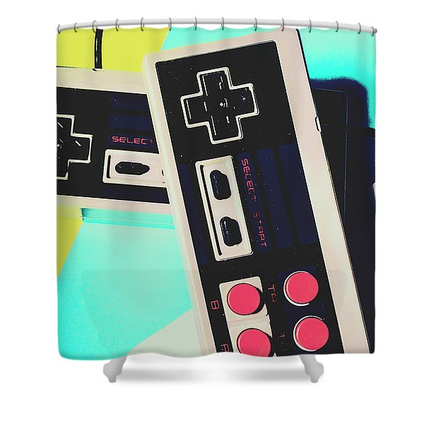 Pop Artcade Shower Curtain