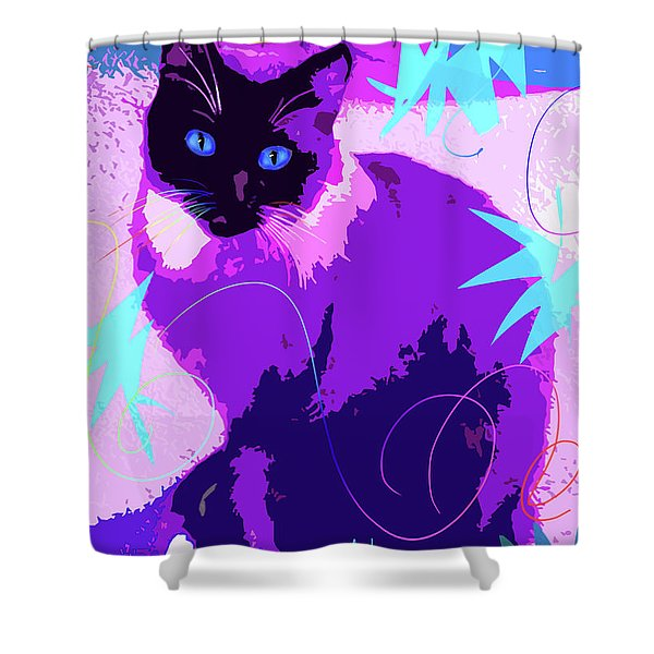 Pop Cat Cocoa Shower Curtain