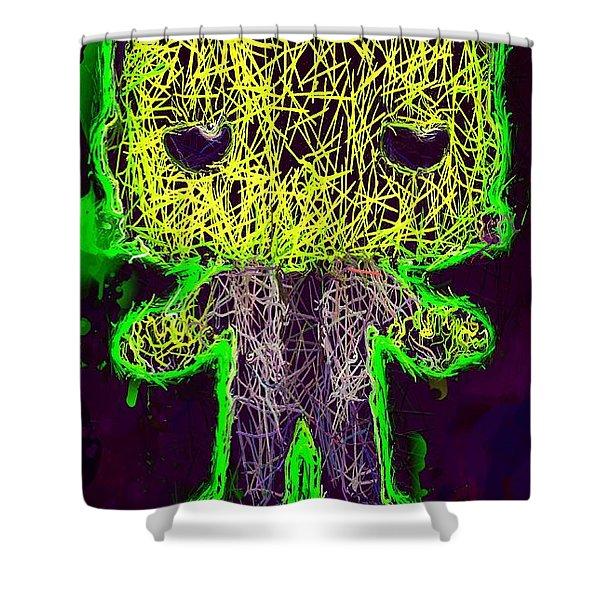 Frankenstein Pop 2 Shower Curtain