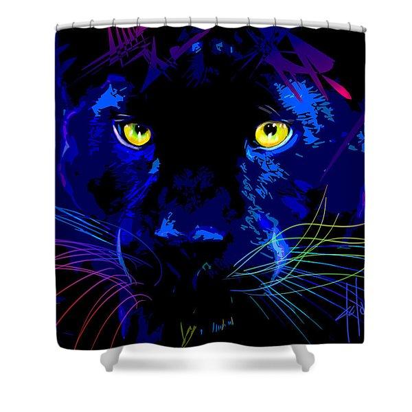 pOpCat Black Panther Shower Curtain