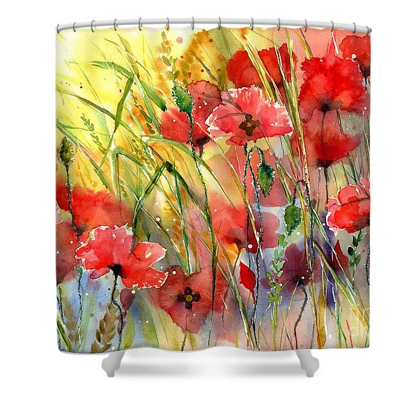 Poppies Bathing In The Sun Shower Curtain