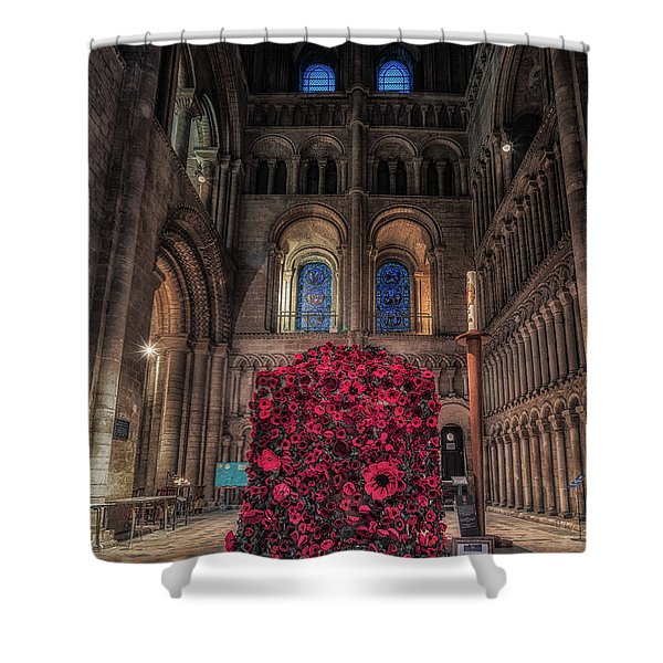 Poppy Display At Ely Cathedral Shower Curtain