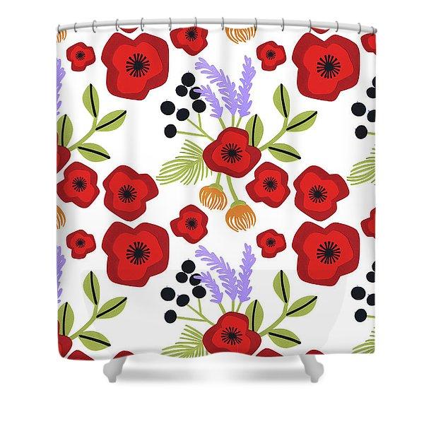 Poppy Print Shower Curtain
