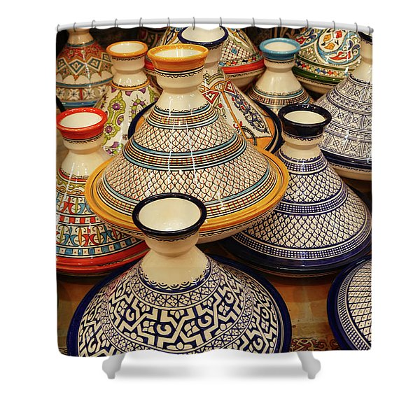 Porcelain Tagine Cookers  Shower Curtain