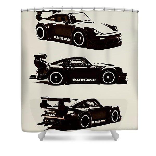 Porsche Rwb 930 Shower Curtain