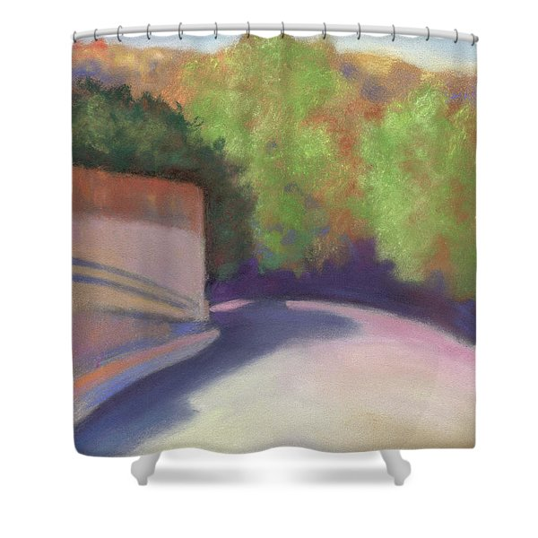 Port Costa Street In Bay Area Shower Curtain