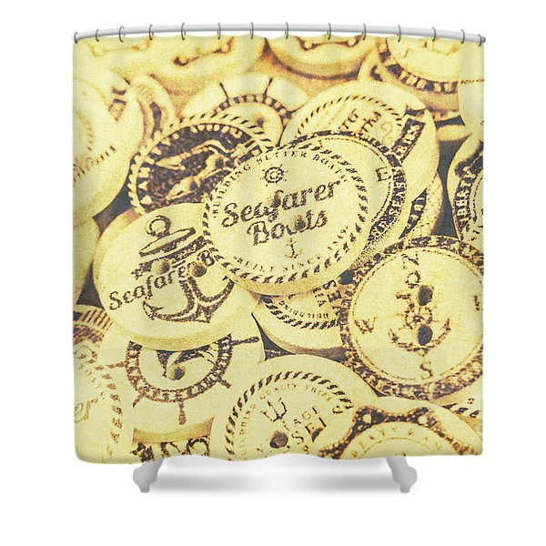 Port Holes And Anchor Buttons Shower Curtain