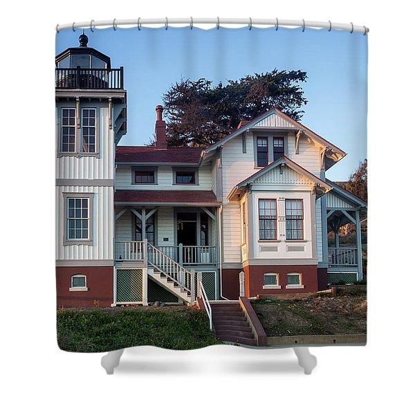 Port San Luis Lighthouse Shower Curtain