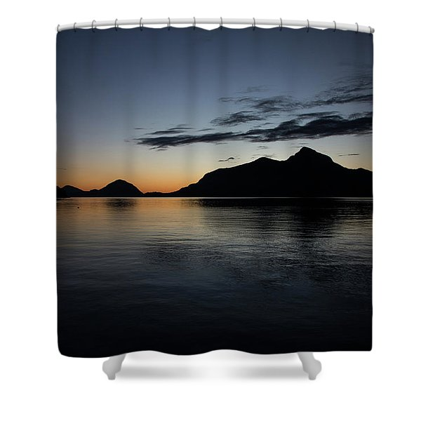 Porteau Cove December Night Shower Curtain
